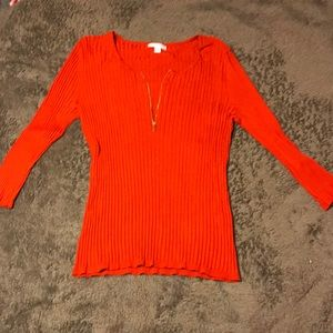 New York & Company Red Sweater Top